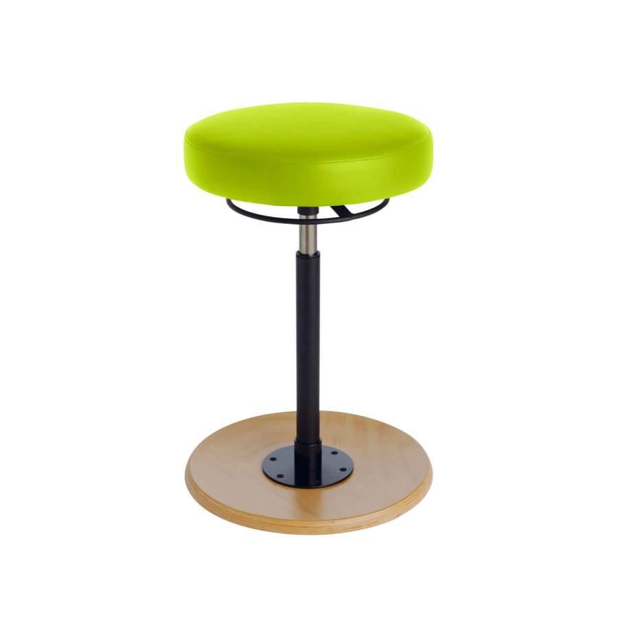 Stehhilfe CAVALLO Tellersitz | Fuß: Buche, natur | Polsterfarbe: PISA-apfelgrün