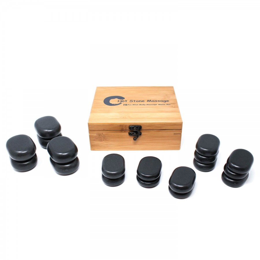 Hot Stone Massagestein-Set | 18-teilig