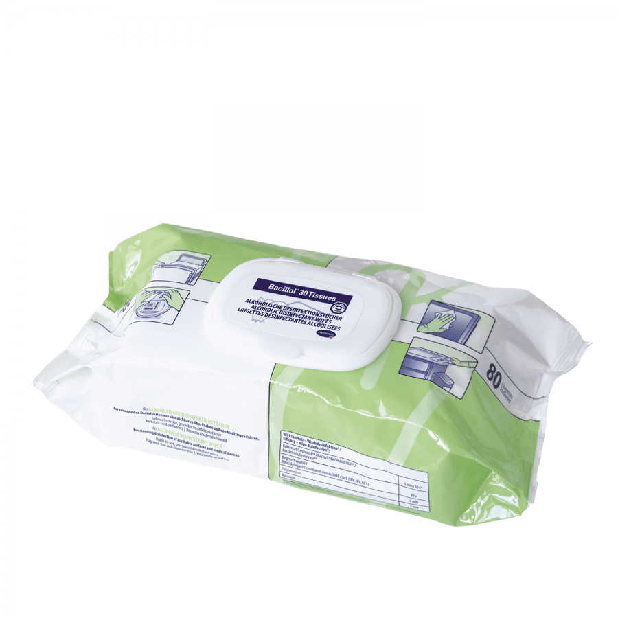 Gebrauchsfertige Desinfektionstücher Bacillol 30 Tissues von Bode | 80 Stück