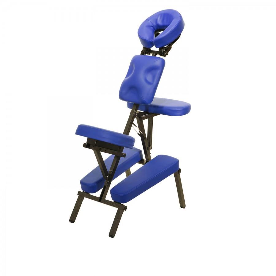 Mobiler Massagestuhl Ultralight Set - Polsterfarbe: marina (blau) inkl. Trolleytasche   Clap Tzu