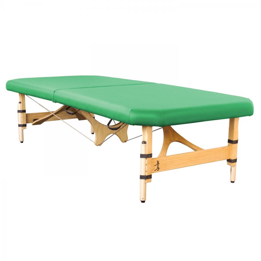 bAshô - mobile Feldenkraisliege in Handarbeit gefertigt. Beinfreiheit durch abgeschrägte Ecken und eingerückte Seilführung. Farbe: kiwi   Clap Tzu