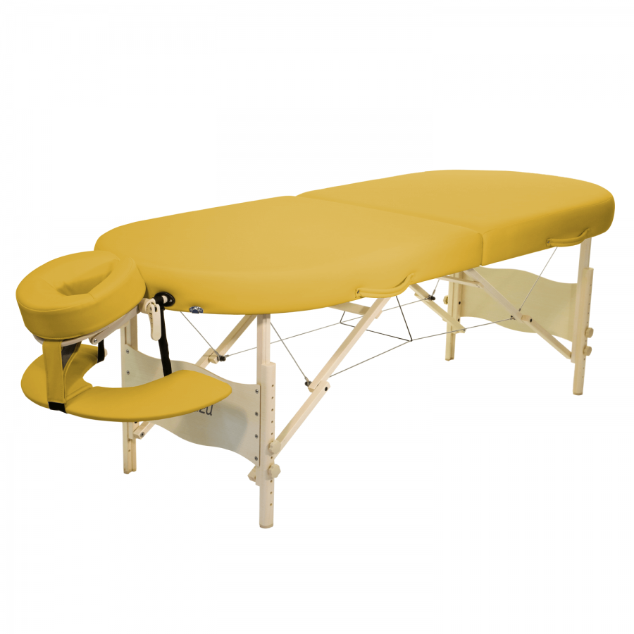 Mobile Lomi Massageliege Clap Tzu KAHUNA Set, siena (gelb)