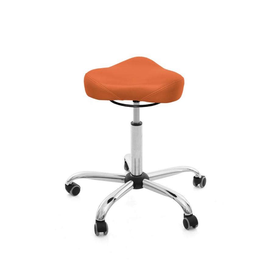 Rollhocker MedSitz Triositz   Polsterfarbe: PISA-orange