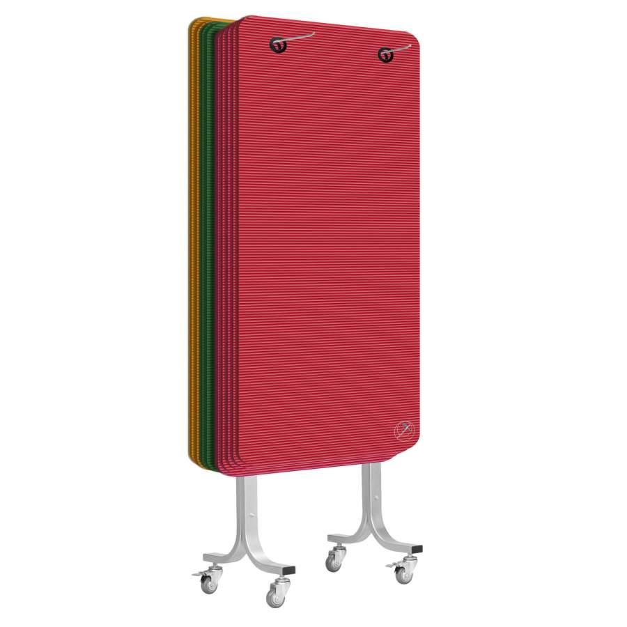 Rollbarer Mattenwagen für die Aufbewahrung Ihrer Yogamatten oder Gymnastikmatten (Matten NICHT im Lieferumfang enthalten!)