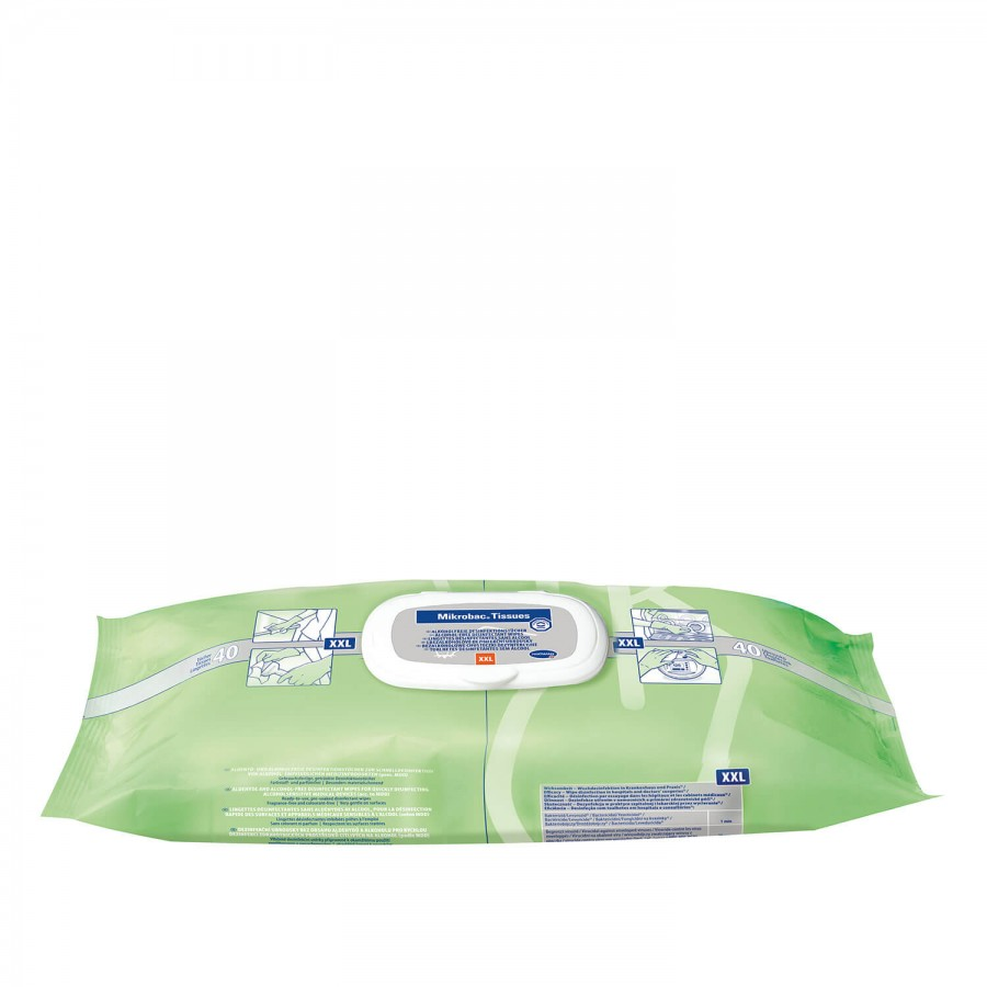 Desinfektionstücher Mikrobac Tissues XXL von Bode | 40 Stück 250 x 380 mm