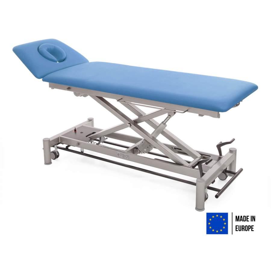 Therapieliege OSLO - Liegefläche mit 2 Segmenten, mit Radhebesatz | Farbe: PISA-blau