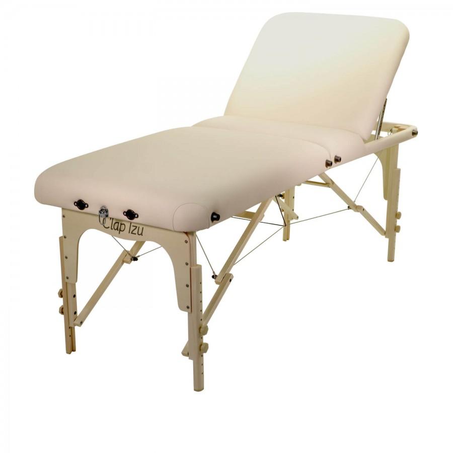 Mobile Kosmetikliege / Massageliege CLASSIC Rest Set | hochstellbares Rückenteil, Inkl. Zubehör | Clap Tzu