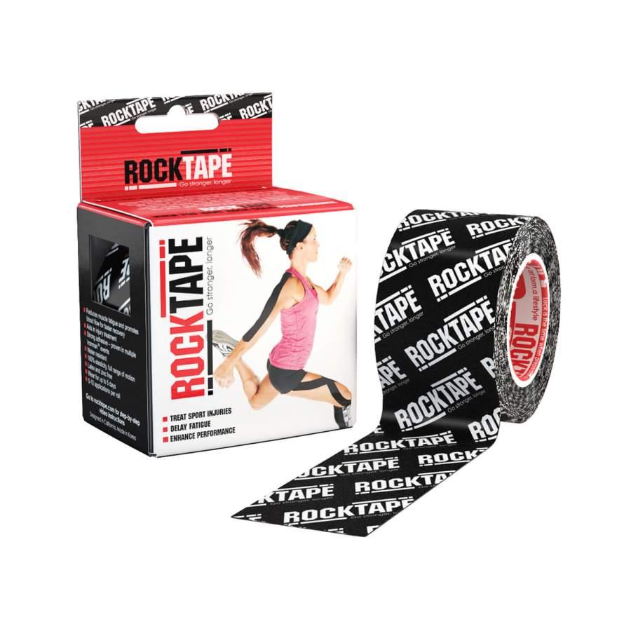 Professionelles Kinesio-Tape für Physiotherapie & Sport: ROCKTAPE Standard | Farbe: Logoprint schwarz