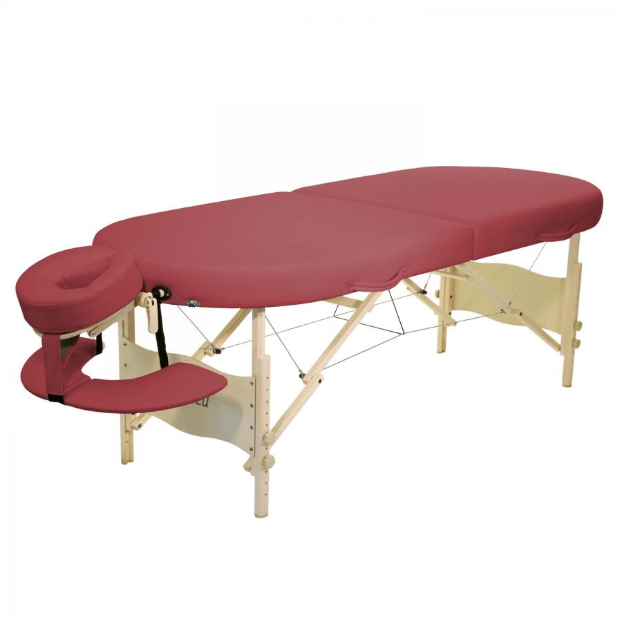 Mobile Lomi Massageliege Clap Tzu KAHUNA Set, burgund (rot)