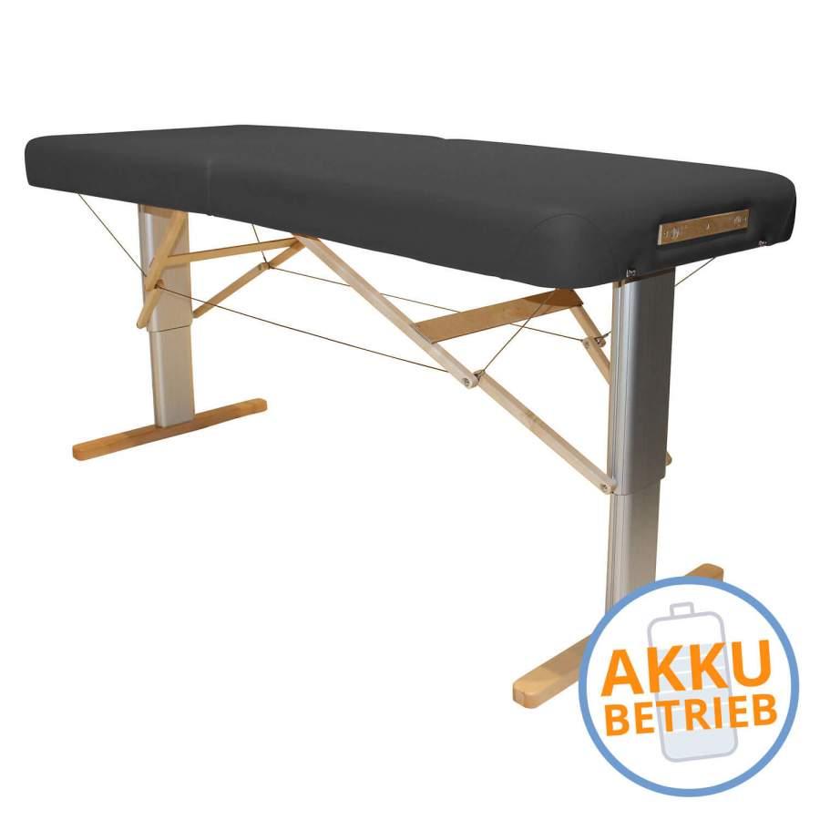 Mobile Massageliege mit Akku: LINEA Physio - Bezugsfarbe: PISA-graphit