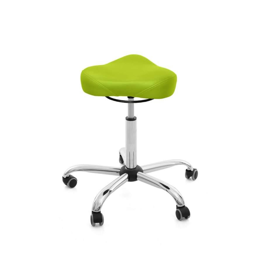 Rollhocker MedSitz Triositz | Polsterfarbe: PISA-apfelgrün