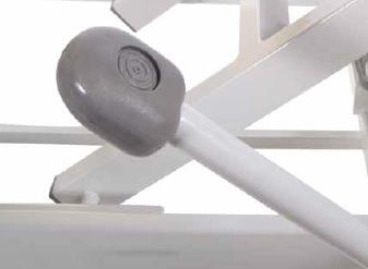 Hydraulik Fußhebel OSLO Therapieliege Detailansicht