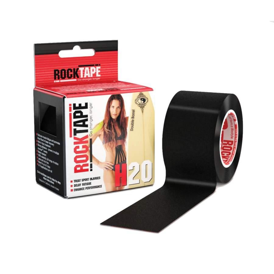 Extra wasserfestes Kinesio-Tape für Physiotherapie & Wassersport: ROCKTAPE H2O | Farbe: schwarz