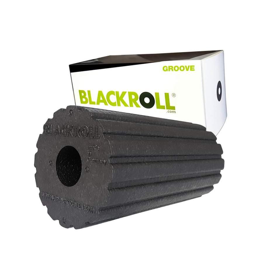 Gerillte feste Faszienrolle | Die original Blackroll Groove Standard - Für anspruchsvolles Training