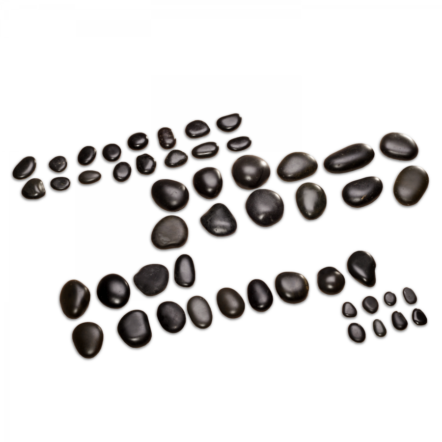 Hot Stone Komplett Set | 54 Steine