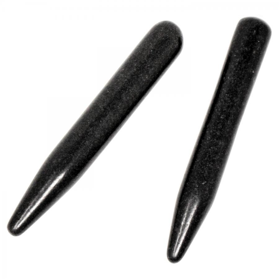 Hot Stone Massagegriffel: Pencil Stone Set aus geschliffenem Basaltgestein