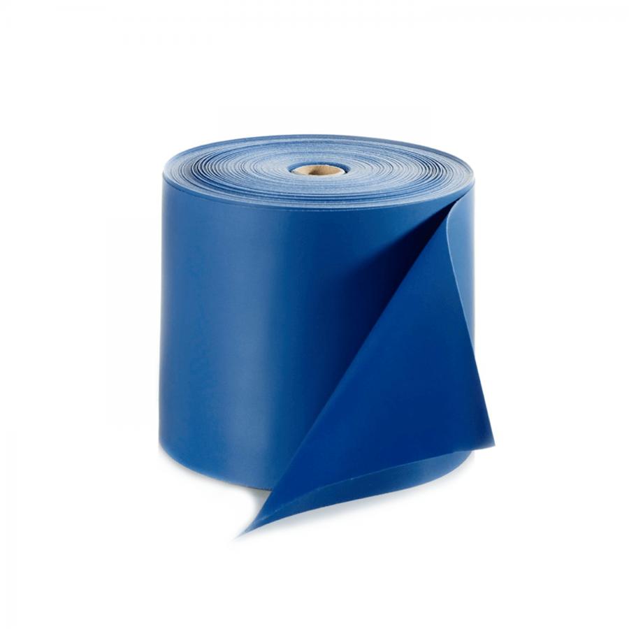Übungsband latexfrei 25 Meter – Vorratsrolle blau / extra stark