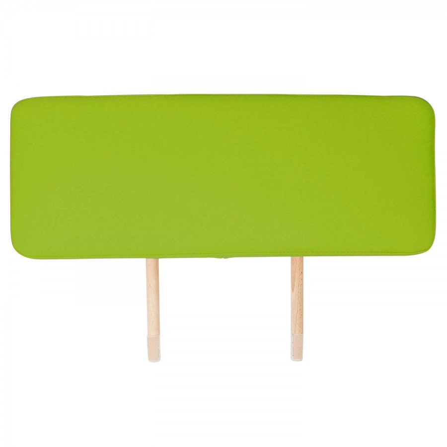 Die ansteckbare Verlängerung für Massageliegen: mehr Platz für große Patienten. Bezugsfarbe: PISA-apfelgrün