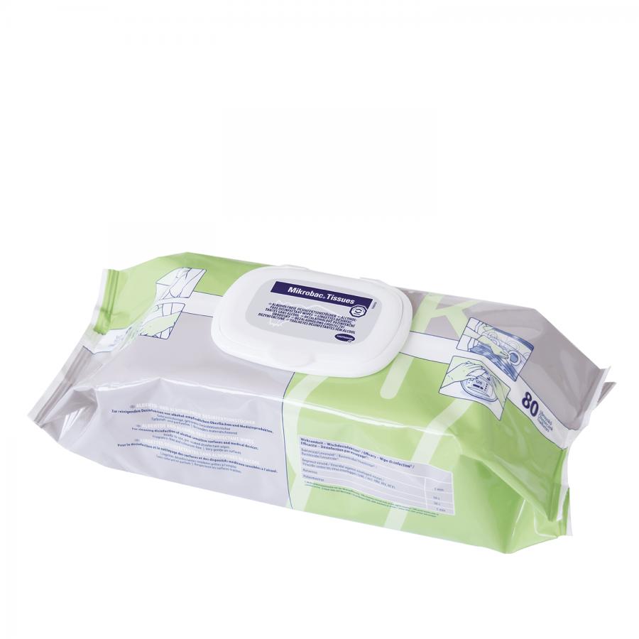 Gebrauchsfertige Desinfektionstücher Mikrobac Tissues von Bode | 80 Stück - Größe 180 x 200 mm
