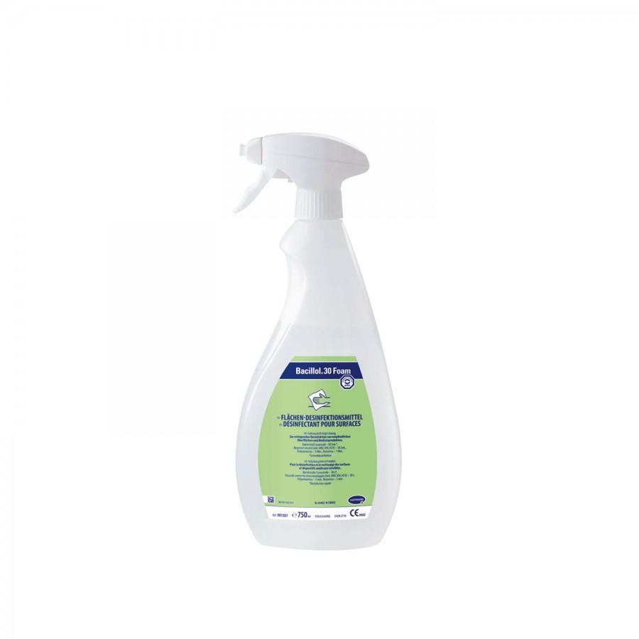 Flächendesinfektionsmittel Bacillol 30 Foam | 750 ml | Sprüh-Applikation mit Schaumsprühkopf