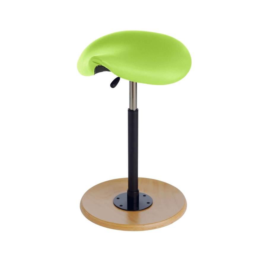 Stehhilfe CAVALLO Sattelsitz | Fuß: Buche, natur | Polsterfarbe: PISA-apfelgrün