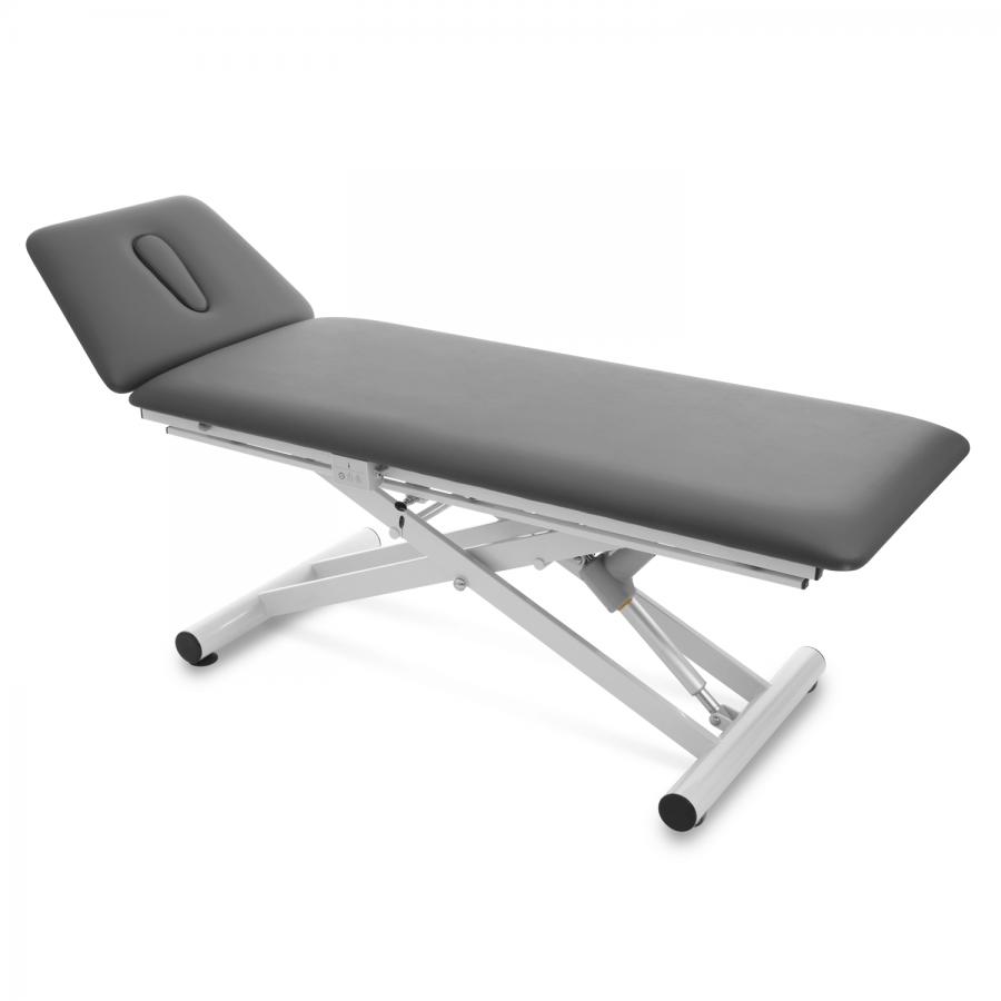 Massage- und Therapieliege Malmö mit 2-geteilter Liegefläche, Farbe graphit