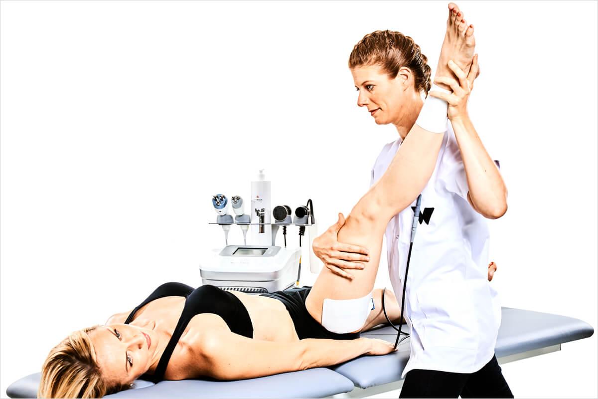 Tecar-Therapie mit dem WINBACK Therapiegerät - 5 verschiedene Betriebs-Modi - oberflächliche BEhandlung oder tiefenwirksam
