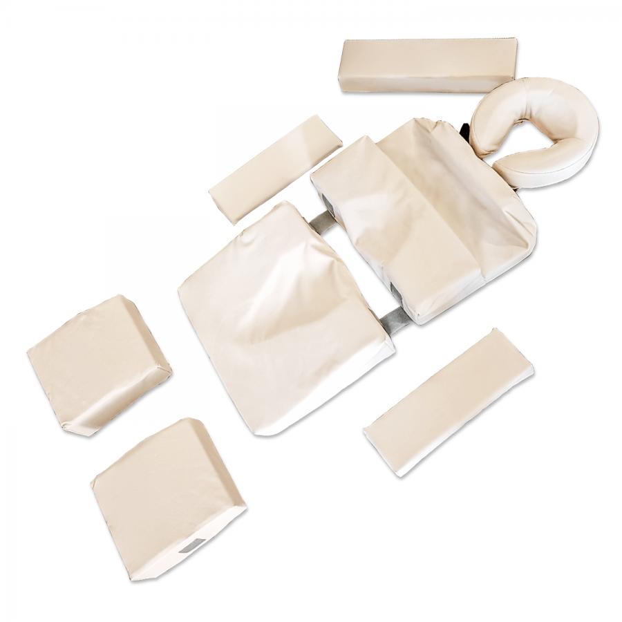 Lagerungspolster-Set 9-teilig: Für Schwangerenmassage. Anpassbar an jeden Bauchtyp. Bezugsfarbe: CLASSIC-crema