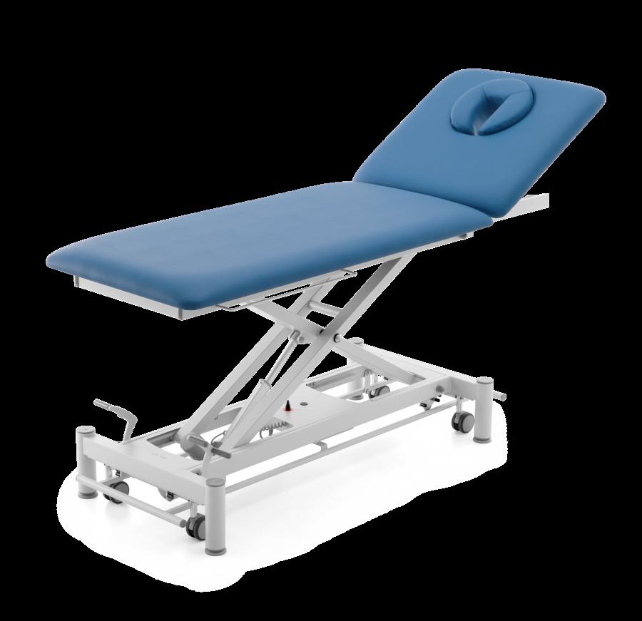 Untersuchungsliege OSLO mit Rückenteil & Radhebesatz