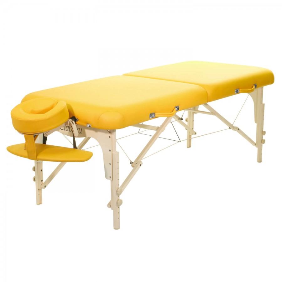 Mobile Massageliege Clap Tzu Classic Set Pro, siena (gelb)