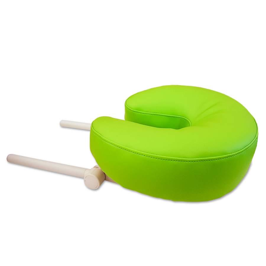 Kopfstütze ERGO für Massageliegen: Polsterkragen-Farbe: apfelgrün