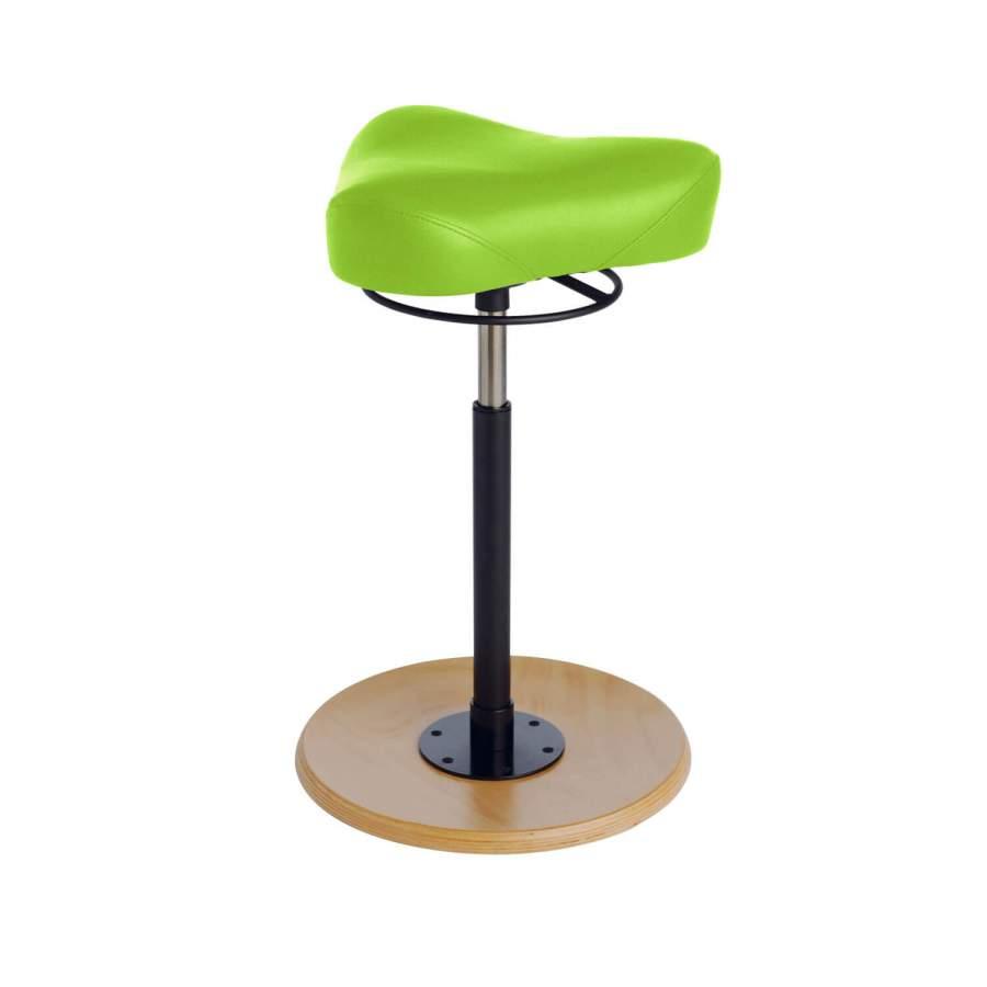 Stehhilfe CAVALLO Triositz | Fuß: Buche, natur | Polsterfarbe: PISA-apfelgrün