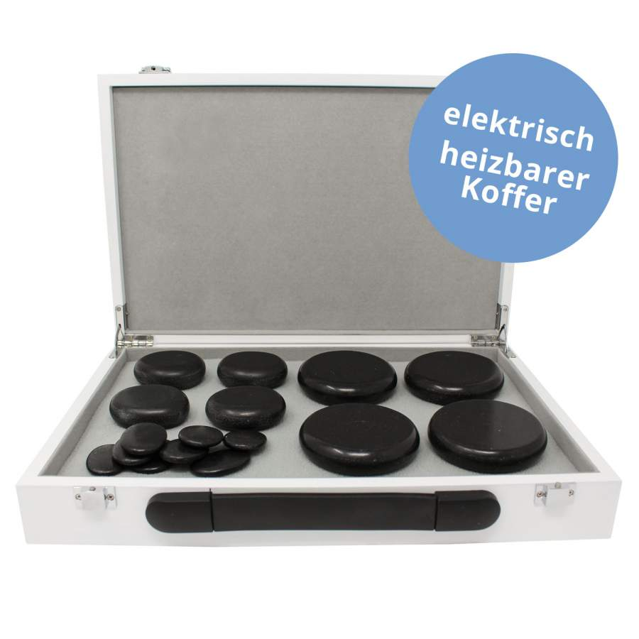 Hot Stone Heating Box - Set mit Steinen