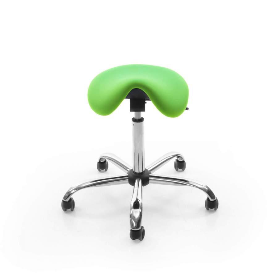 Rollhocker MedSitz Wipp mit Sattelsitz und Wippfunktion | Polsterfarbe: PISA-apfelgrün