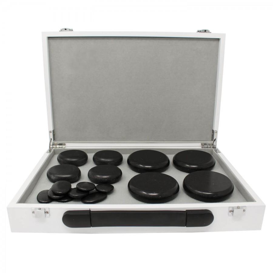 Hot Stone Heating Box - Set mit Steinen